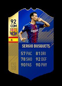 FIFA 18 La Liga Team of the Season Sergio Busquets