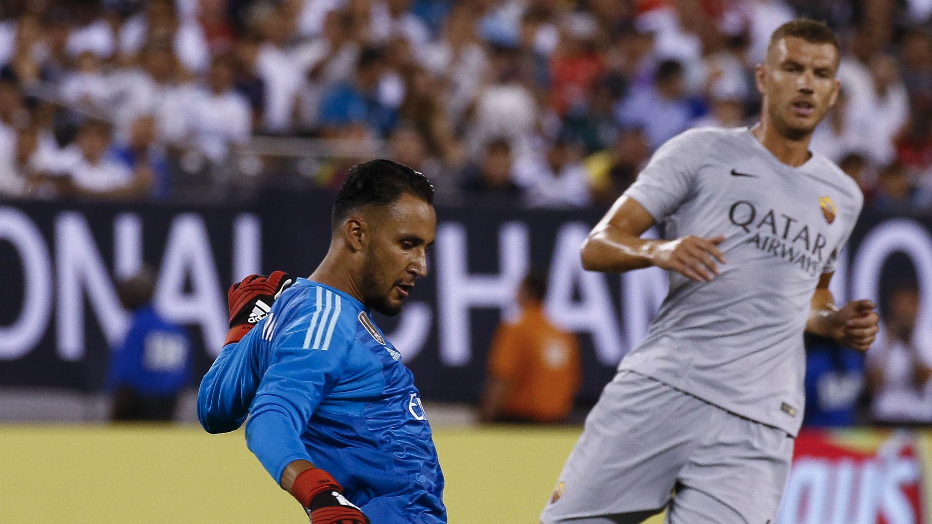 Keylor Navas Edin Dzeko Real Madrid Roma ICC 2018