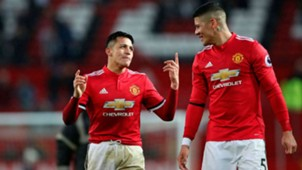Alexis Sánchez Marcos Rojo Manchester United