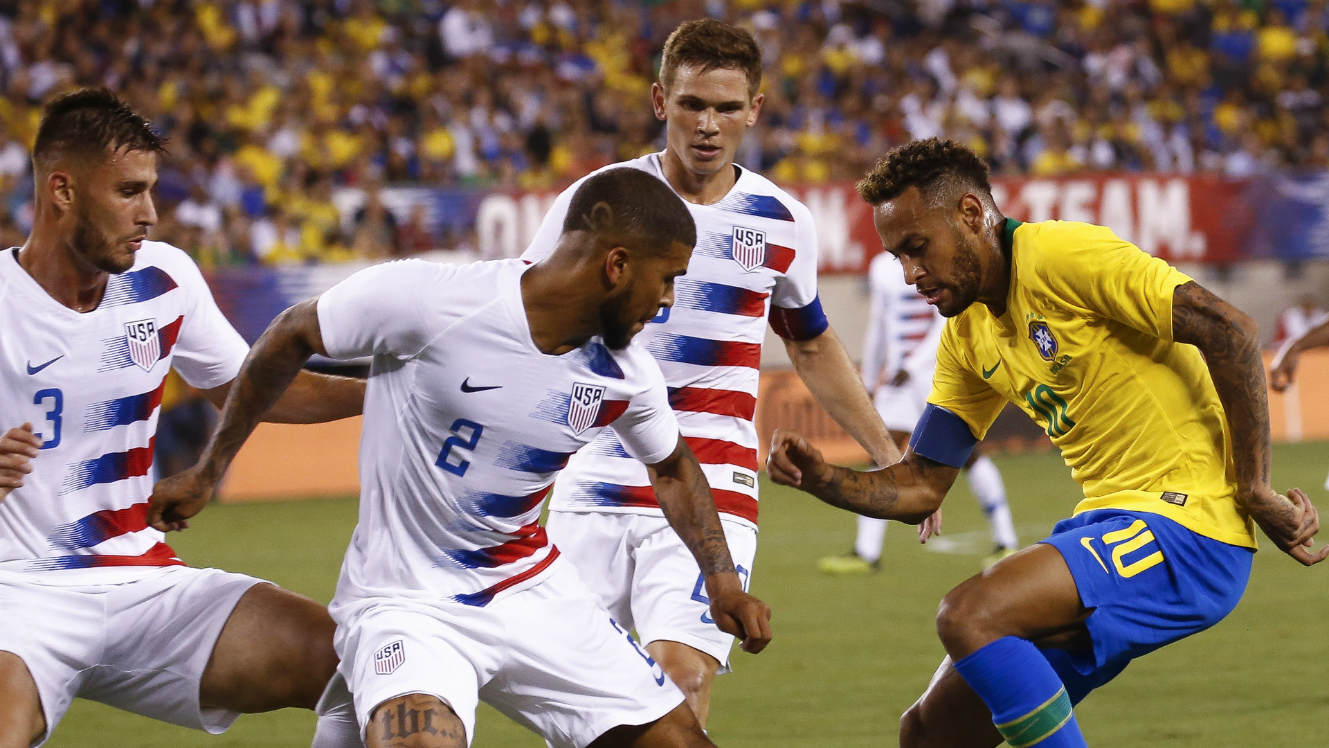 DeAndre Yedlin lead youthful United States against Neymar's Brazli