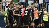 Real Madrid celebrate Malaga