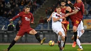 Dzeko Roma Cagliari Serie A