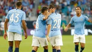Brahim Diaz Bernardo Silva Manchester City ICC 2018