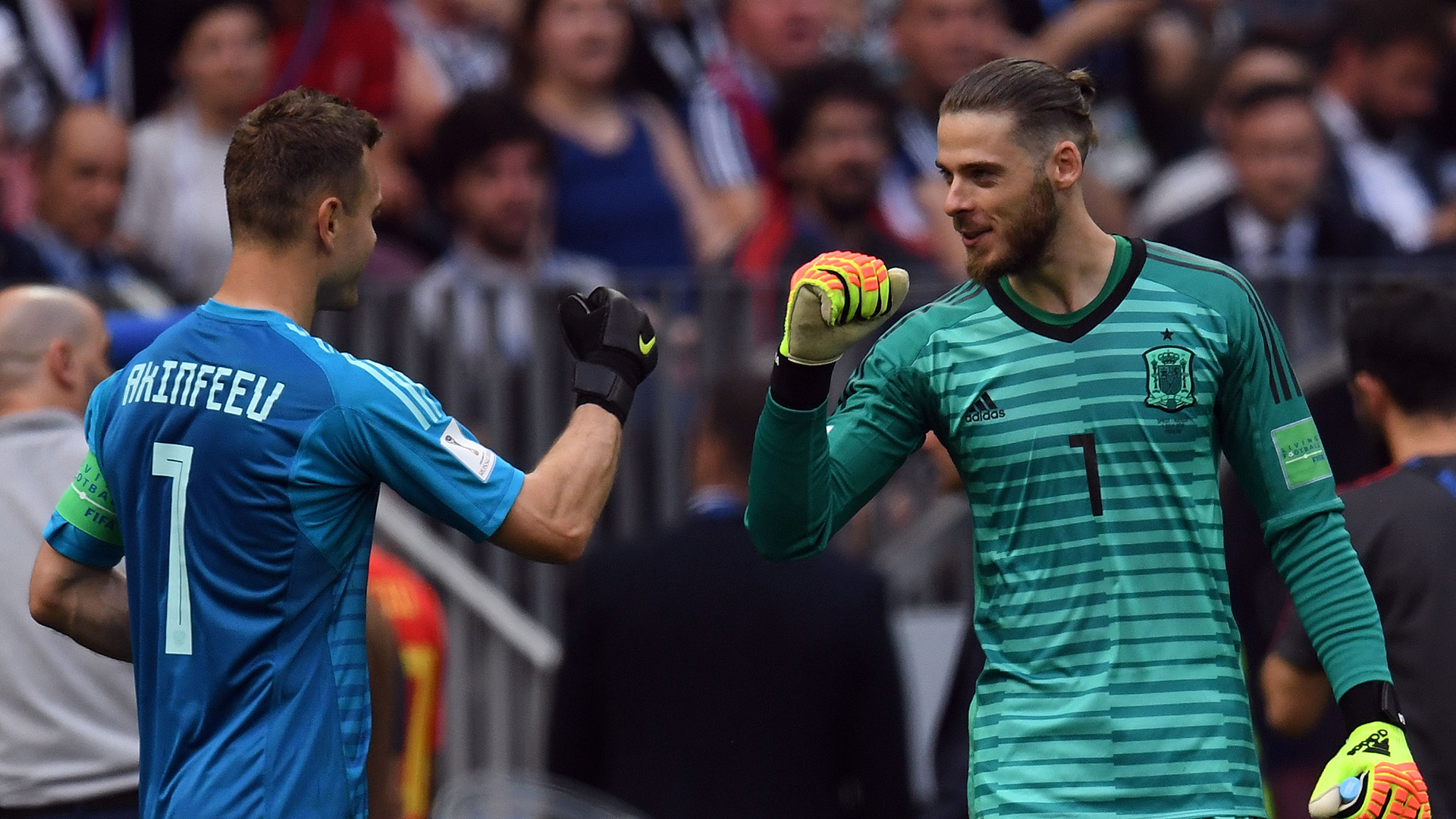 Igor Akinfeev David de Gea Russia Spain World Cup 2018 010718