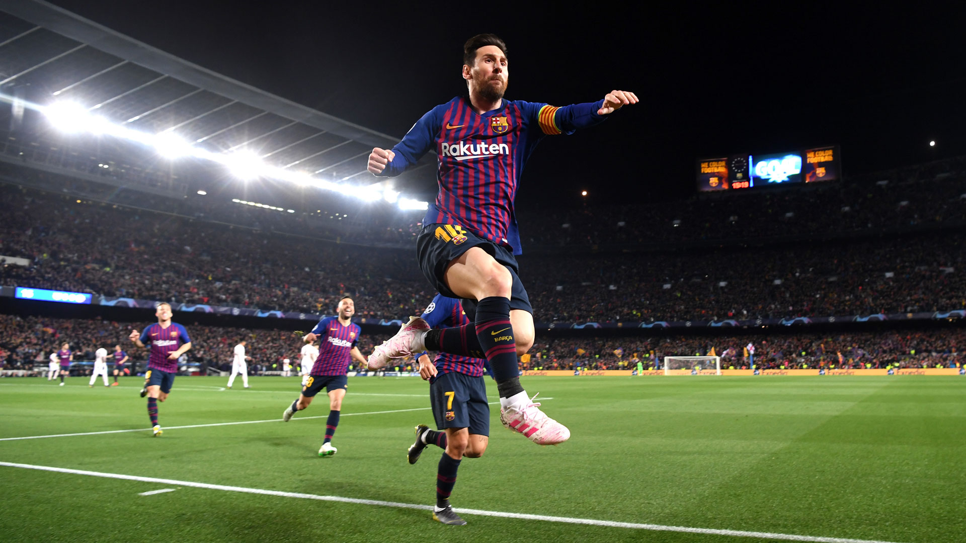 Lionel Messi FC Barcelona Manchester United Champions League 16042019