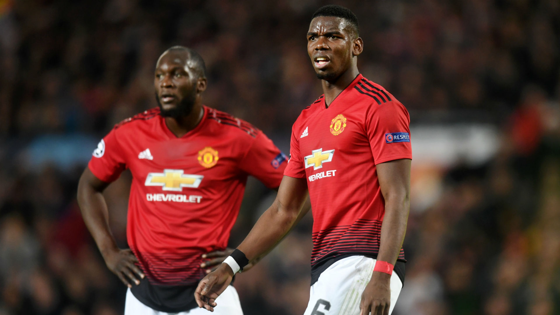 Paul Pogba Romelu Lukaku Manchester United Barcelona Champions League 2019