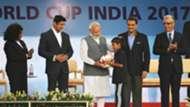Fatma Samoura Rajyavardhan Rathore Narendra Modi Praful Patel Seikh Salman