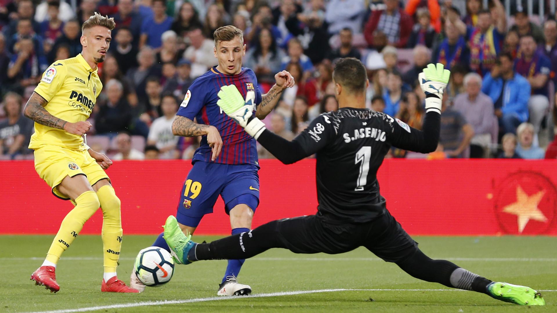Lucas Digne Sergio Asensio - Barcelona Villarreal - 2017-18