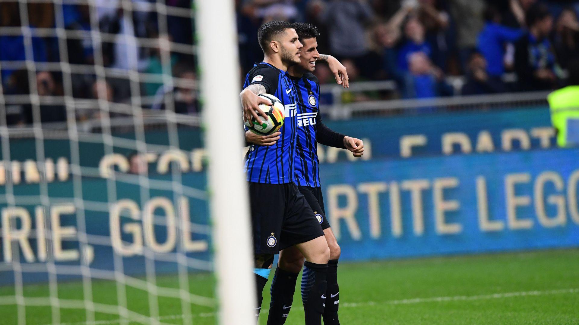 Mauro Icardi Joao Cancelo Inter Cagliari Serie A
