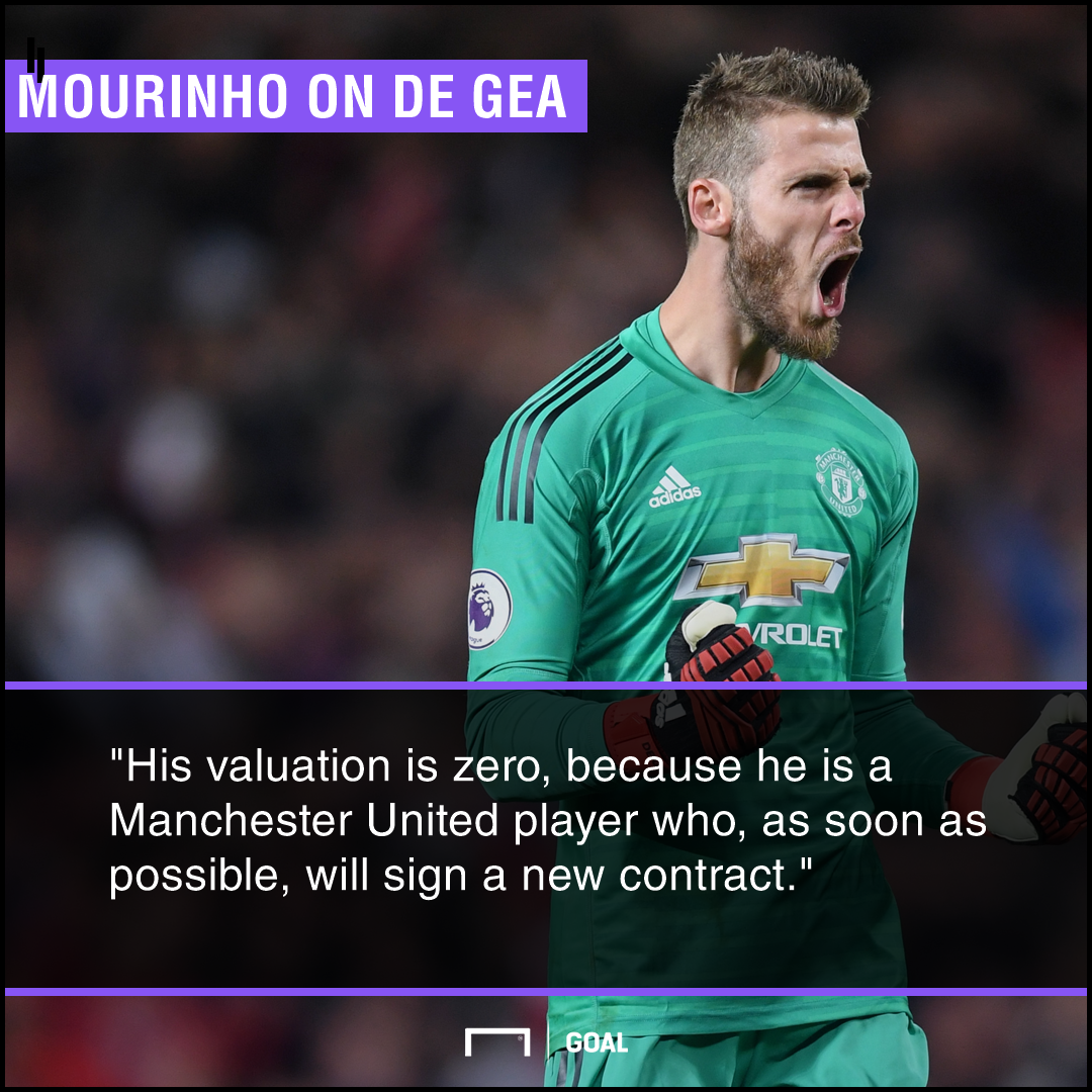 David de Gea Jose Mourinho Manchester United new contract
