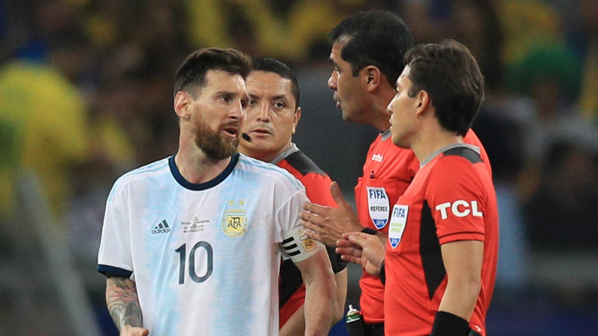 Brazil vs Argentina referee Zambrano explains controversial decisions following Messi backlash