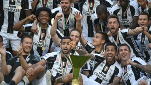 Juventus celebrating Serie A