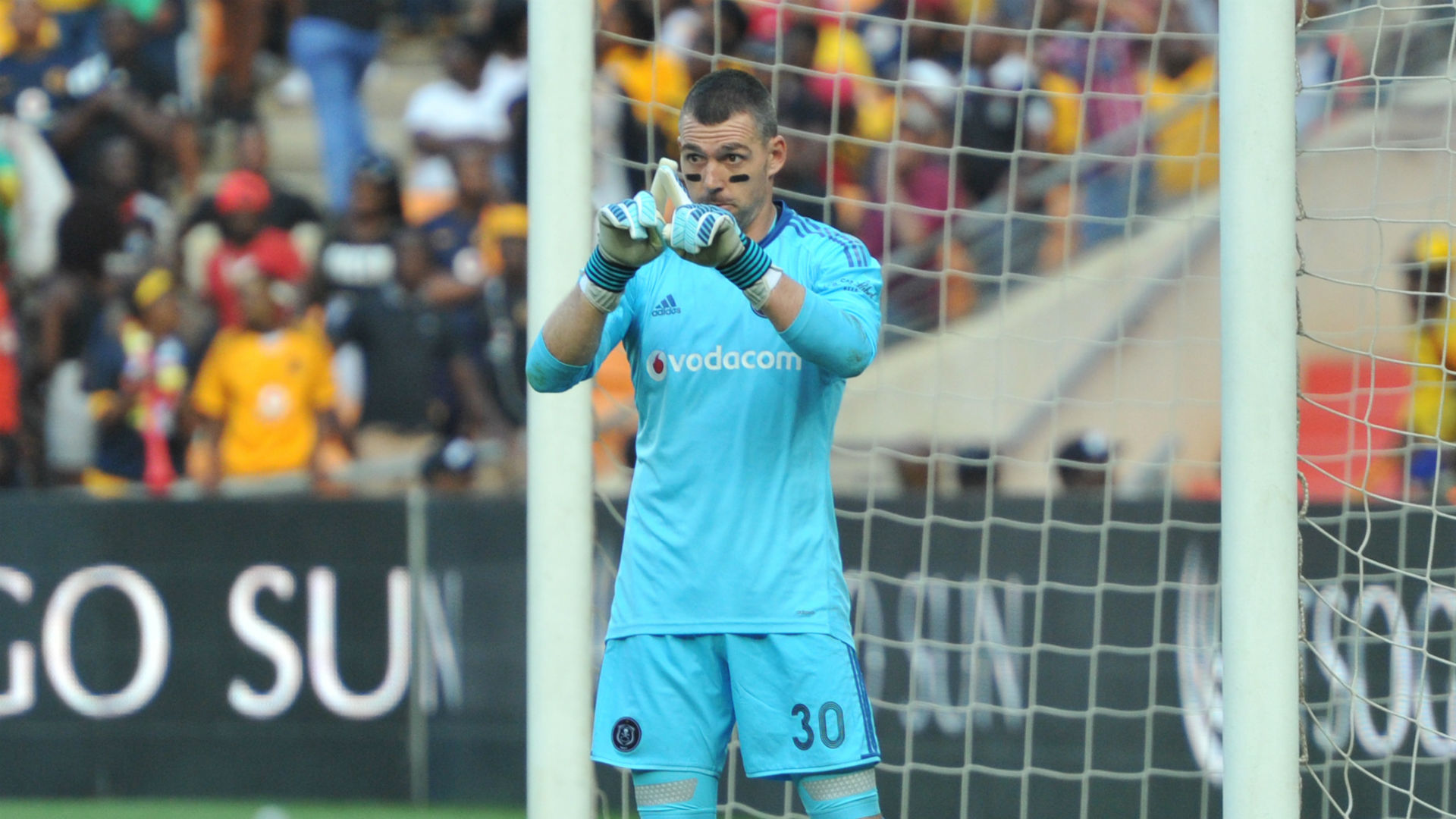 Wayne Sandilands of Orlando Pirates vs Kaizer Chiefs