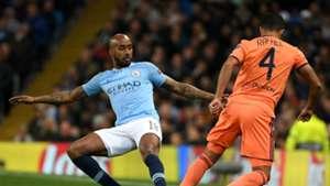 Fabian Delph Rafael da Silva Manchester City Lyon Champions League 2018