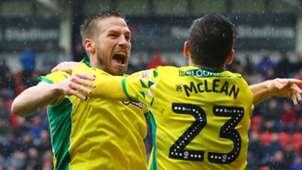 Norwich City celebrate 2018-19