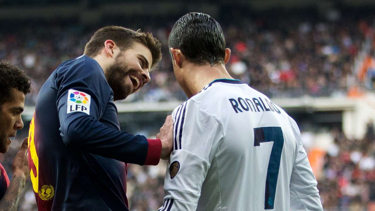Gerard Pique Barcelona Cristiano Ronaldo Real Madrid