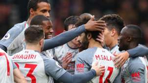 Liverpool celebrate at Bournemouth
