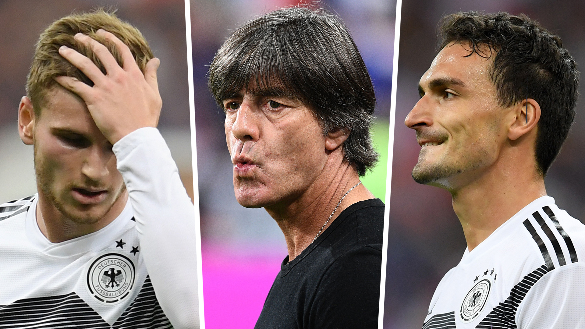 Timo Werner Joachim Low Mats Hummels Germany 2018