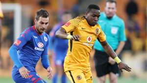 Bradley Grobler and George Maluleka - Kaizer Chiefs v SuperSport United