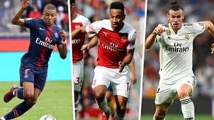 Kylian Mbappe Pierre-Emerick Aubameyang Gareth Bale
