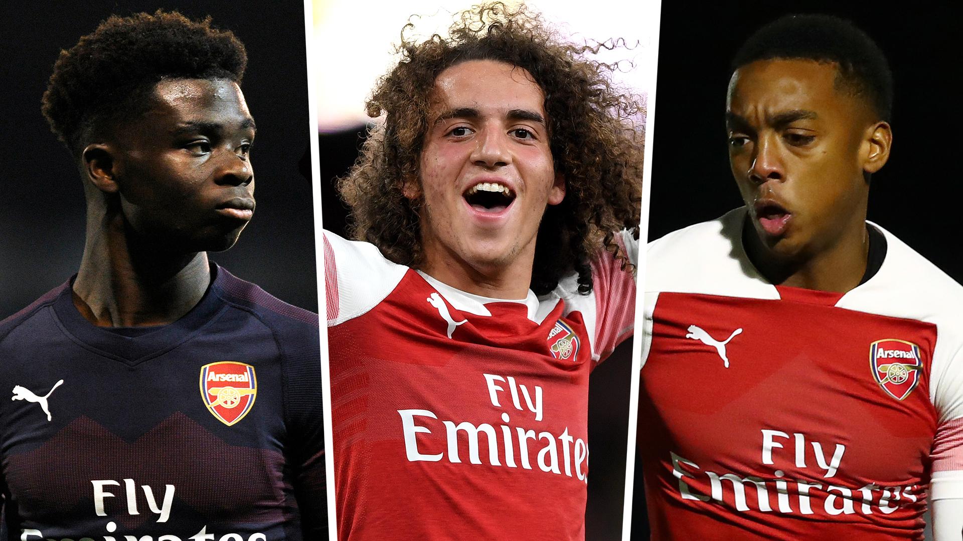 Bukayo Saka Matteo Guendouzi Joe Willock Arsenal