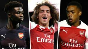 Bukayo Saka Matteo Guendouzi Joe Willock Arsenal