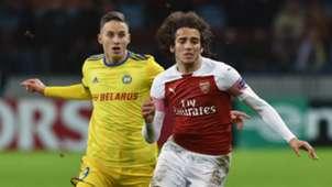Matteo Guendouzi BATE Arsenal Europa League