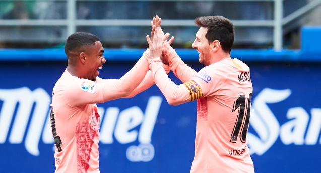 Malcom Messi Eibar Barcelona LaLiga