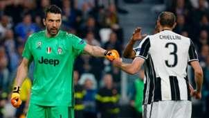 Gianluigi Buffon Giorgio Chiellini Juventus Barcelona