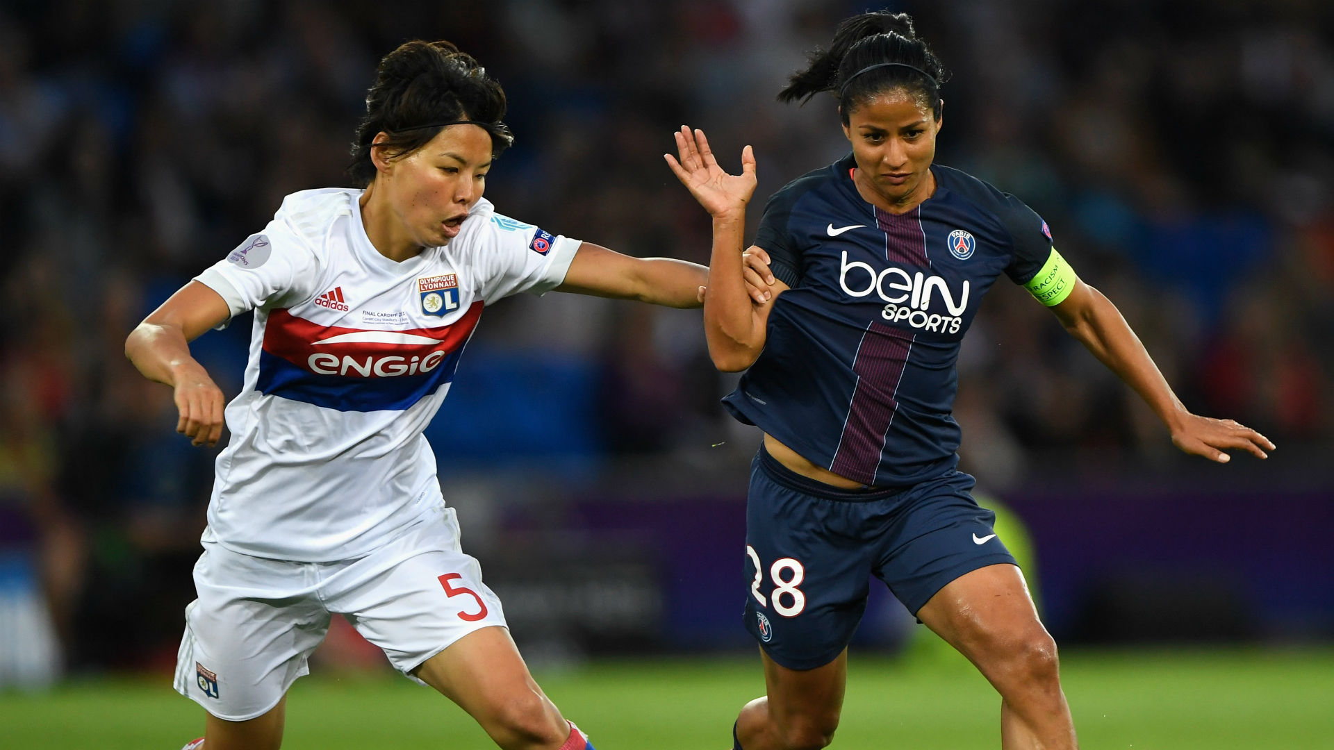Shirley Cruz Saki Kumagai Lyon PSG Women Champions League 01062017