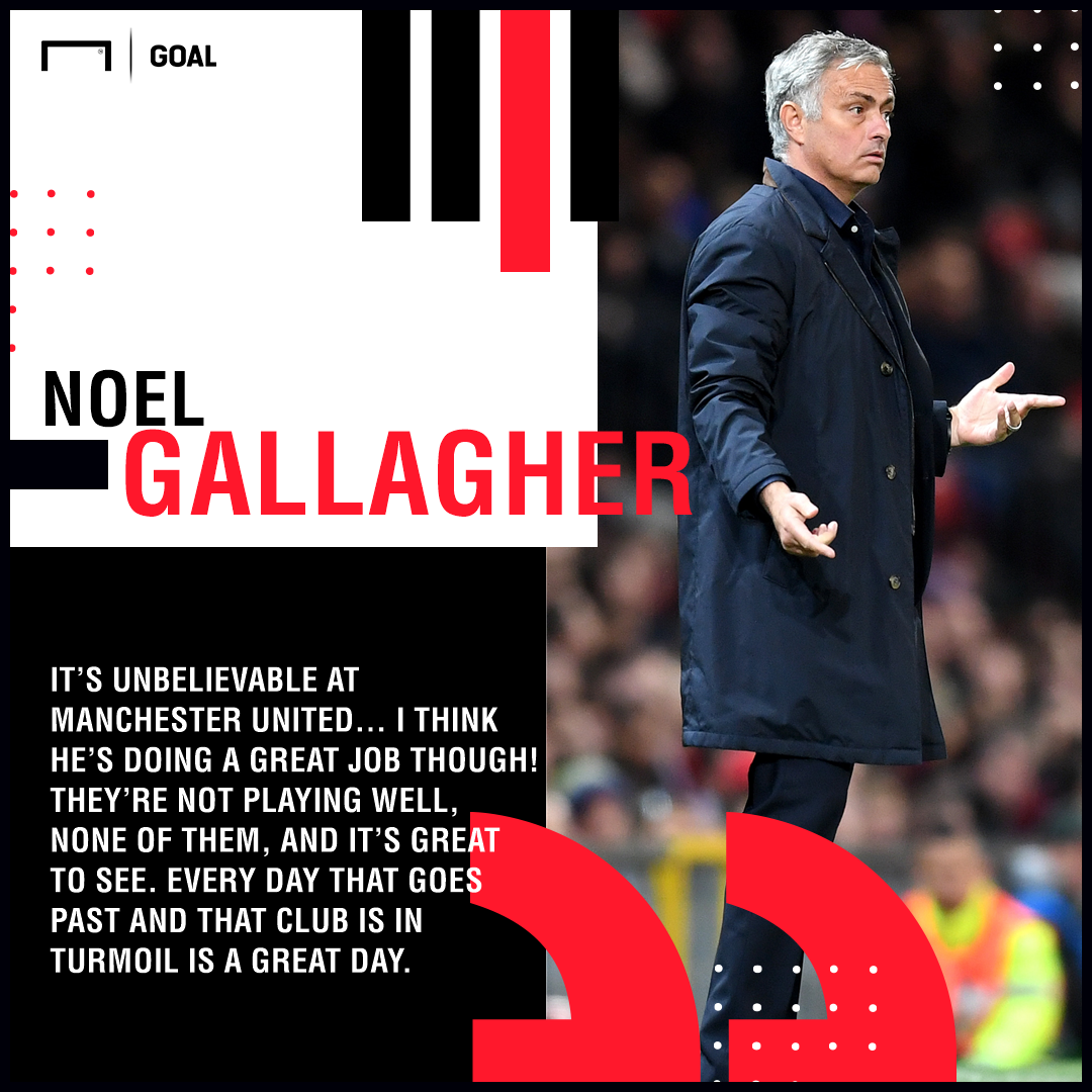 Jose Mourinho doing a great job Noel Gallagher