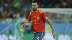Sergio Busquets Spain World Cup 2018