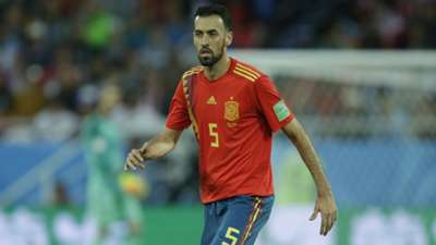Sergio Busquets Spain World Cup 2018