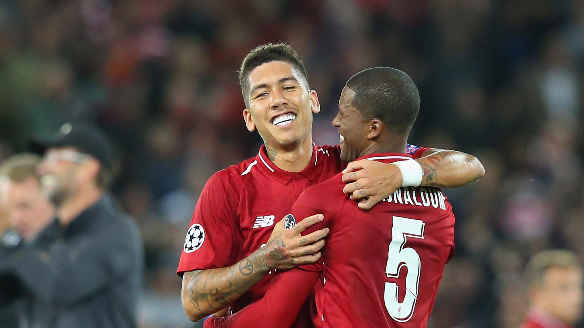 Roberto Firmino Georginio Wijnaldum Liverpool PSG Champions League