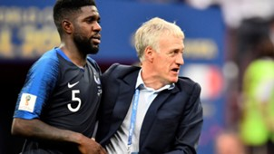 Didier Deschamps Samuel Umtiti France Croatia World Cup 15072018