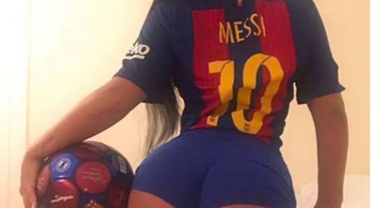 Miss Bum Bum volvió a apoyar a Messi y anticipó que llega a los 500 goles en el Clásico