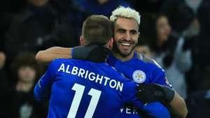 Marc Albrighton Riyad Mahrez Leicester City Huddersfield Town
