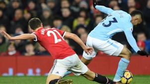 Gabriel Jesus Ander Herrera Manchester United Manchester City Premier League 10122017