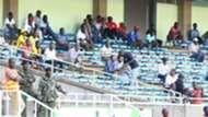 Tusker fans following proceedings at Kasarani stadium