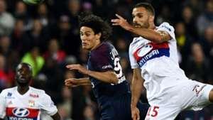 Edinson Cavani Jeremy Morel PSG Lyon Ligue 1 17092017