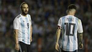 Gonzalo Higuain Lionel Messi Argentina