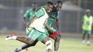 Ayub Timbe and Joash Onyango of Kenya and Harambee Stars.