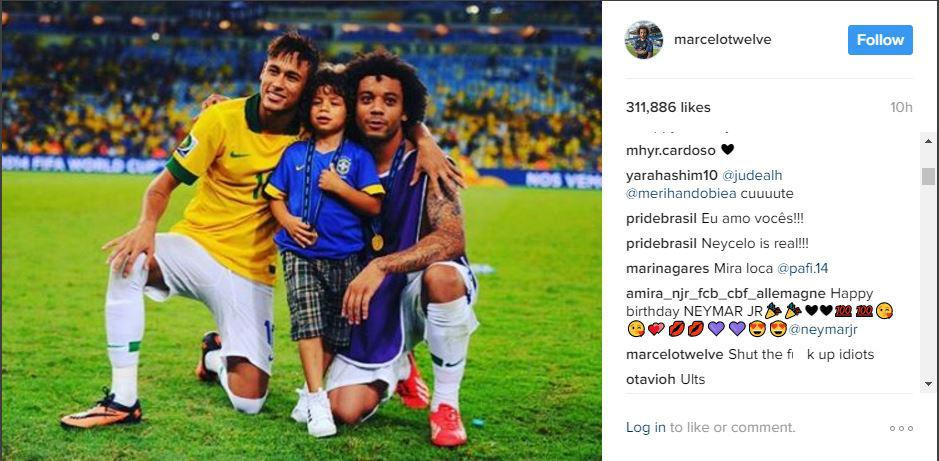Marcelo Neymar Birthday Tweet