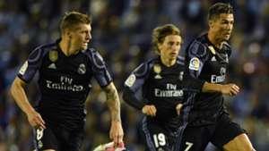 Cristiano Ronaldo Toni Kroos Luka Modric Real Madrid Celta LaLiga 17052017