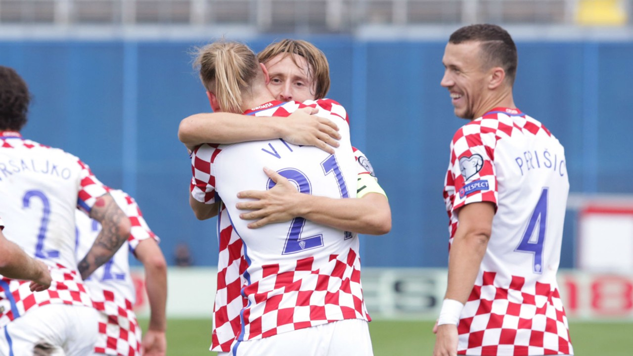 Modric Vida Croatia Kosovo WC Qualification