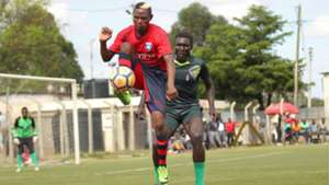 Zimbabwean striker Michelle Katsvairo of AFC Leopards v Wazito.