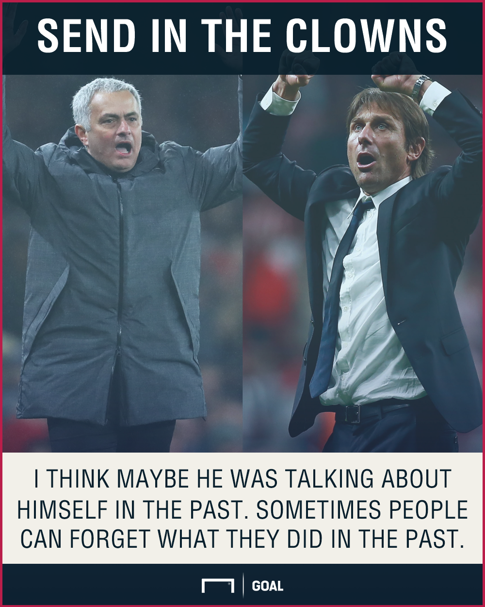 Antonio Conte Jose Mourinho clowns
