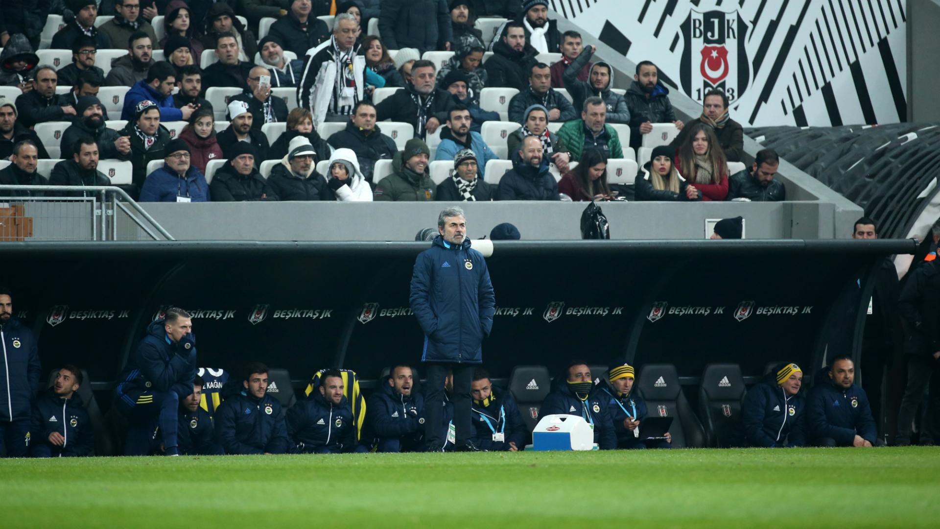 Fenerbahce coach Aykut Kocaman at Besiktas Vodafone Park 02252018