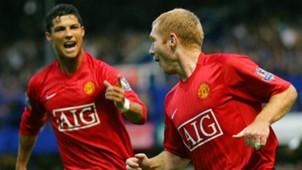 Cristiano Ronaldo Paul Scholes Man Utd 2007
