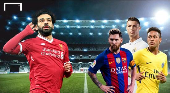 Mohamed Salah Lionel Messi Cristiano Ronaldo Neymar